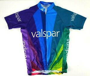 Mt Borah Valspar Paint Multicolor Short Sleeve Cycling Jersey Size M Made in USA