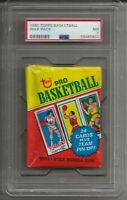 1980 TOPPS BASKETBALL UNOPENED WAX PACK PSA 7 NM,  LARRY BIRD, MAGIC JOHNSON RC?