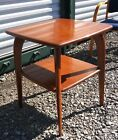 Vintage Two Tier End Table mid century modern side stand HEYWOOD WAKEFIELD 50s