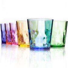13 oz Premium Drinking Glasses - Set of 6 - Unbreakable Tritan Plastic - BPA Fre