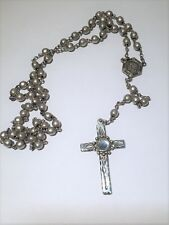 Sterling Silver Jesus Crusifix Rosary Beads