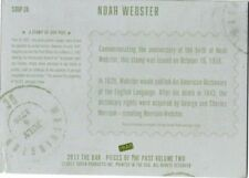 PIECES OF THE PAST VOLUME TWO  NOAH WEBSTER STAMP CARD 1/1 PRINTING PLATE