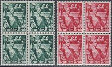 DR 1938 Michel Nr. 660-661 postfrisch Viererblöcke