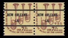 1614a Saxhorns 7.7c NEW ORLEANS LA. Bureau Precancel Americana Pair MNH -Buy Now