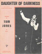 Daughter Of Darkness - Tom Jones - 1970 Sheet Music