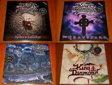 KING DIAMOND 4x LP EU VINYL wPOSTER Lot SPIDERS / GRAVEYARD / VOODOO / HOUSE New