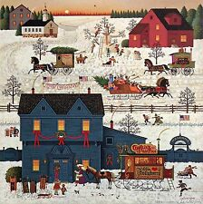 """Charles Wysocki Signed and Numbered Lithograph """"A Warm Christmas Love"""" COA"""