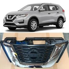 Chrome Front Bumper Grill Grille Replacement for 2017 Nissan Rogue OE Style