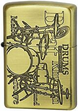 ZIPPO Oil Lighter 200 Play The Music Drums Brass from Japan