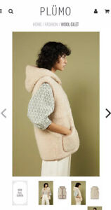 Sheepskin Wool Jacket gilet Plumo XL New !