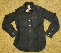 NWT Levi's Women's Tailored Fit Denim Jacket Pearl Button Snap - Size Small