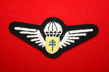 FREE FRENCH FRANCE LIBRE PARACHUTE WING BREVET WWII CLOTH TISSUE #2