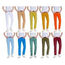 Robelli Men's Designer Skinny Fit Cotton Chino / Chinos Trousers