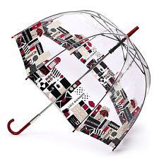 Jaula de Lulu Guinness Diseñador Claro Paraguas-Londres Impresión