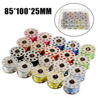 20x Colorful Sewing Machine Thread And Bobbins With Storage Case Box DIY~AU