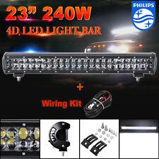 "23inch 240W LED Work Light Bar Philips Flood/Spot Combo Offroad ATV 4WD UTE 20"""
