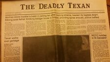 Deadly Texan student paper, Daily Texan Press 1982 University of Texas at Austin