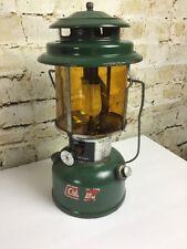 Vintage Dec 1974 Coleman Model 220H Amber Glass Lantern Lamp Camping