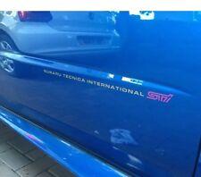 SUBARU IMPREZA STI Adesivi porta anteriore x2 (versione 8)