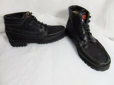 SEBAGO Gibraltar Men's Hiking Trail Ankle Boots 11 Black Leather Moc Toe 714006