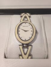 Versace V-Glam 60QE1 White Enamel, Damen Armband-Uhr, NEU