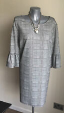 Grey Check Plus Size Formal Dress with Fluted Sleeves - BNWT Size 20 (RRP £20)