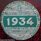 Bollo auto 1934 fascista Reale Automobile Club d'Italia Tassa autoveicoli RACI