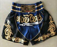 Muay Thai Fight Short Mma Grappling Kick Boxing Trunk Martial Art Navy Blue Sz L