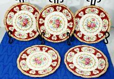 "LOT of 5 Royal Albert Lady Hamilton 7"" Dessert Pie Plates Fine China  Exc.!"