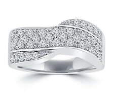 1.25 ct Ladies Round Cut Diamond Anniversary Ring In 14 Kt White Gold