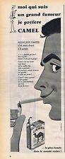 PUBLICITE ADVERTISING 045 1956 CAMEL cigarettes