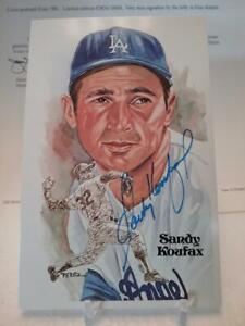 Sandy Koufax Signed Perez Steele Great Moments /10,000 JSA LOA AUTO! Post card