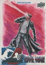 Captain America Civil War Sketch Card by Jim Faustino of Cyclops