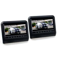 "9"" 17,8cm LCD TFT Set 2x Kopfstützen AUTO Monitor DVD USB SD universal schwarz"
