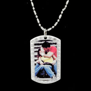 Personalized Picture Necklace Custom Made Dog Tag Style Stone Pendant Your Photo