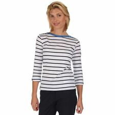 T-shirt, maglie e camicie da donna maniche a 3/4 basici con girocollo