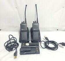 Lot Of 2 Motorola Mts2000 Flashport H01ucd6pw1bn Handie Talkie Fm Radio