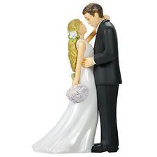 Elegant Bride/Groom Wedding Cake Topper - Black and White - FREE SHIPPING
