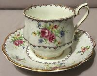 Royal Albert Teacup, Saucer and Stand - Bone China England Petit Point - 778676