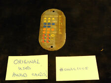 ORIGINAL USED MILLS ANTIQUE SLOT MACHINE OVAL METAL AWARD CARD #OUAC1005