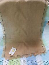 "Steinmart ""Fab Find"" Table Runner 100% Jute Burlap 1/2""Fringe 14X72"" Made India"