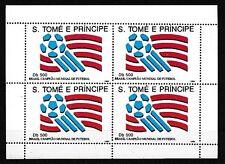 D. Fußball   Sao Tome E Principe  1463 Kleinbogen  WM USA 1994  ** (mnh)