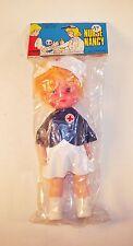Vintage 1980s Blonde Nurse Nancy Doll - Hong Kong by Larami