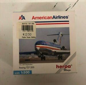 Herpa Wings American Airlines Boeing 727-200 1:500 scale Die-cast