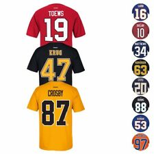 NHL Reebok Official Premier Team Color Player Name & Number Jersey T-Shirt Men's