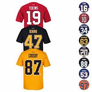 NHL Reebok Official Premier Team Color Player Name & Number Jersey T-Shirt Men's