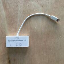 3-in-1 Camera Connection Kit Apple iPad iPhone iPod lightning, USB, SD. Micro SD
