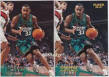 (2) 1996-97 FLEER SPRITE PROMO: GRANT HILL #11 PROMOTIONAL + BASE CARD #180 LOT