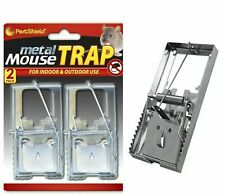 Metal Mouse Traps X 2  Mice Rodent Pest Control Trap