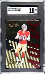 2018 PANINI ABSOLUTE FOOTBALL JIMMY GAROPPOLO  #86 San Francisco 49ers SGC 10 GM